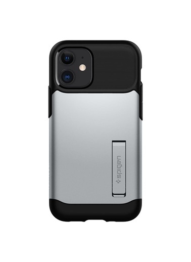 Spigen Spigen iPhone 12 Mini Kılıf, Spigen Slim Ar Gümüş